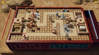 Gameplay still from the Senet map