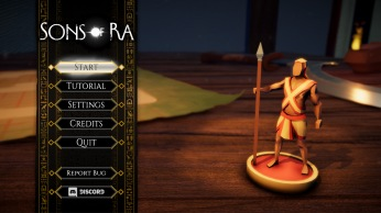 Main Menu in Sons Of Ra